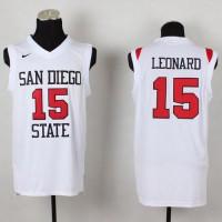 Aztecs #15 Kawhi Leonard White Basketball Stitched NCAA Jersey