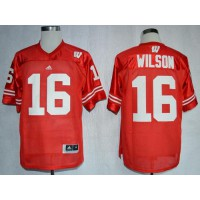 Badgers #16 Russell Wilson Red Stitched NCAA Jersey