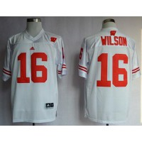 Badgers #16 Russell Wilson White Stitched NCAA Jersey