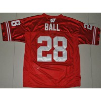 Badgers #28 Montee Ball Red Stitched NCAA Jersey