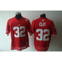 Badgers #32 John Clay Red Stitched NCAA Jersey