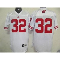Badgers #32 John Clay White Stitched NCAA Jersey