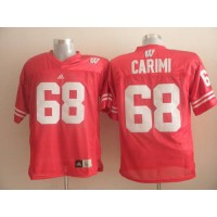 Badgers #68 Gabe Carimi Red Stitched NCAA Jersey