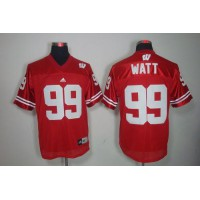 Badgers #99 J.J. Watt Red Stitched NCAA Jersey