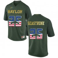 Baylor Bears #25 Lache Seastrunk Green USA Flag College Football Jersey