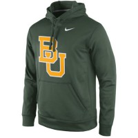 Baylor Bears Nike Practice Performance Hoodie Green