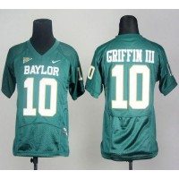 Bears #10 Robert Griffin III Green Stitched Youth NCAA Jersey