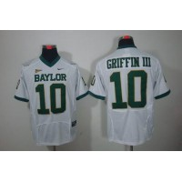 Bears #10 Robert Griffin III White Stitched NCAA Jersey