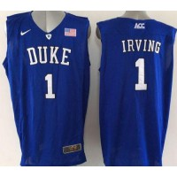 Blue Devils #1 Kyrie Irving Blue Basketball Elite Stitched NCAA Jersey