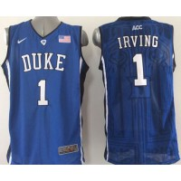 Blue Devils #1 Kyrie Irving Blue Basketball Stitched NCAA Jersey