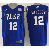 Blue Devils #12 Justise Winslow Royal Blue Basketball Elite Stitched NCAA Jersey