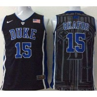 Blue Devils #15 Jahlil Okafor Black Basketball Stitched NCAA Jersey