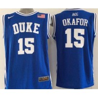 Blue Devils #15 Jahlil Okafor Blue Basketball New Stitched NCAA Jersey