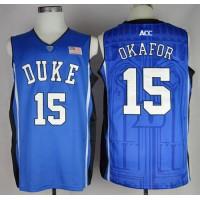 Blue Devils #15 Jahlil Okafor Blue Basketball Stitched NCAA Jersey