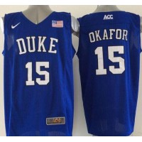 Blue Devils #15 Jahlil Okafor Royal Blue Basketball Elite Stitched NCAA Jersey