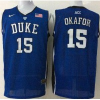Blue Devils #15 Jahlil Okafor Royal Blue Basketball Stitched NCAA Jersey