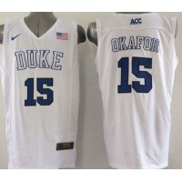 Blue Devils #15 Jahlil Okafor White Basketball Elite Stitched NCAA Jersey