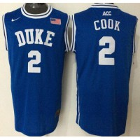 Blue Devils #2 Quinn Cook Blue Basketball New Stitched NCAA Jersey
