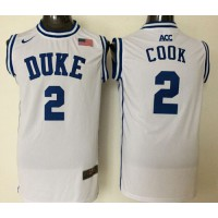 Blue Devils #2 Quinn Cook White Basketball Stitched NCAA Jersey