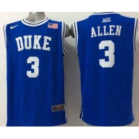 Blue Devils #3 Grayson Allen Blue Basketball Stitched NCAA Jersey