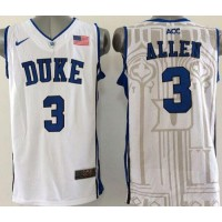Blue Devils #3 Grayson Allen White Basketball New Stitched NCAA Jersey
