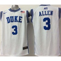 Blue Devils #3 Grayson Allen White Basketball Stitched NCAA Jersey
