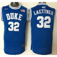 Blue Devils #32 Christian Laettner Blue Basketball New Stitched NCAA Jersey