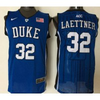 Blue Devils #32 Christian Laettner Blue Basketball Stitched NCAA Jersey