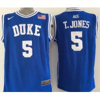 Blue Devils #5 Tyus Jones Blue Basketball New Stitched NCAA Jersey