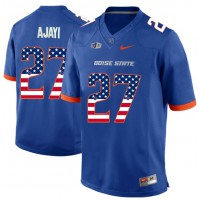 Boise State Broncos #27 Jay Ajayi Blue USA Flag College Football Jersey