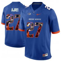 Boise State Broncos #27 Jay Ajayi Blue With Portrait Print College Football Jersey4