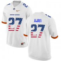 Boise State Broncos #27 Jay Ajayi White USA Flag College Football Jersey