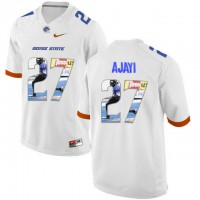 Boise State Broncos #27 Jay Ajayi White With Portrait Print College Football Jersey3