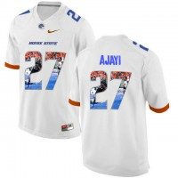 Boise State Broncos #27 Jay Ajayi White With Portrait Print College Football Jersey4