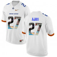 Boise State Broncos #27 Jay Ajayi White With Portrait Print College Football Jersey5