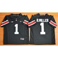 Buckeyes #1 Braxton Miller Black Limited Stitched NCAA Jersey