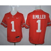 Buckeyes #1 Braxton Miller Red Limited Stitched NCAA Jersey