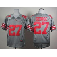 Buckeyes #27 Eddie George Grey Stitched NCAA Jersey