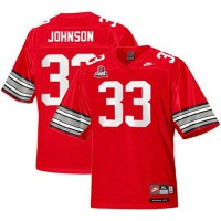 Buckeyes #33 Pete Johnson Red Legends of the Scarlet & Gray Throwback Stitched NCAA Jersey