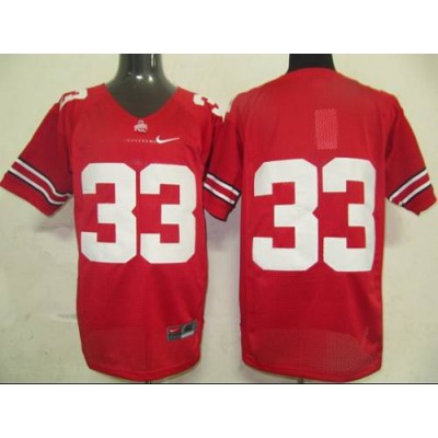 Buckeyes #33 Pete Johnson Red Stitched NCAA Jersey