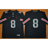 Buckeyes #8 DeVier Posey Black Commemorative Stitched NCAA Jersey