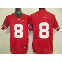 Buckeyes #8 DeVier Posey Red Stitched NCAA Jersey