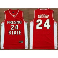 Bulldogs #24 Paul George Red Basketball Stitched NCAA Jersey