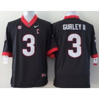 Bulldogs #3 Todd Gurley II Black Stitched Youth NCAA Jersey