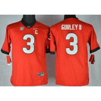Bulldogs #3 Todd Gurley II Red Stitched Youth NCAA Jersey