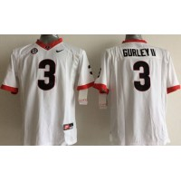 Bulldogs #3 Todd Gurley II White Stitched Youth NCAA Jersey