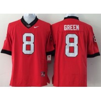 Bulldogs #8 A.J. Green Red Stitched Youth NCAA Jersey