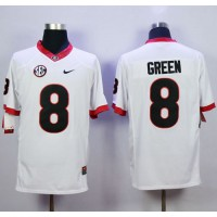 Bulldogs #8 A.J. Green White Limited Stitched NCAA Jersey