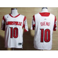 Cardinals #10 Gorgui Dieng White Basketball Stitched NCAA Jersey