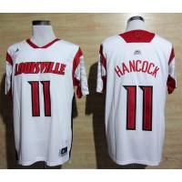 Cardinals #11 Luke Hancock White Basketball Stitched NCAA Jersey